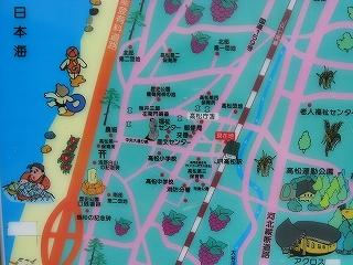 自転車の 高松 自転車置き場 : 付近の位置関係。
